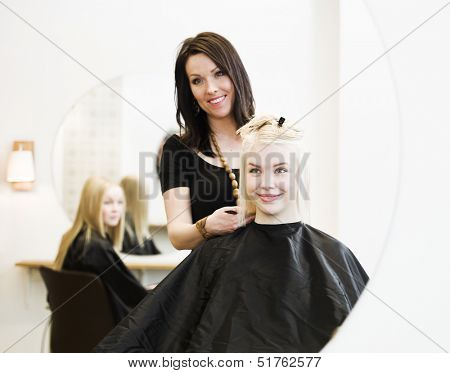Young Girl at the Hair Salon