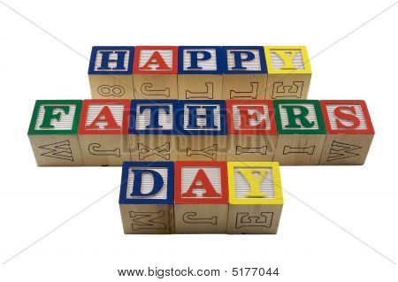 Wood Blocks Happy Fathers Day