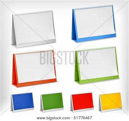 Blank Desktop Calendars. Vector Illustration