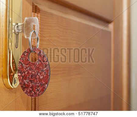 Key in door lock