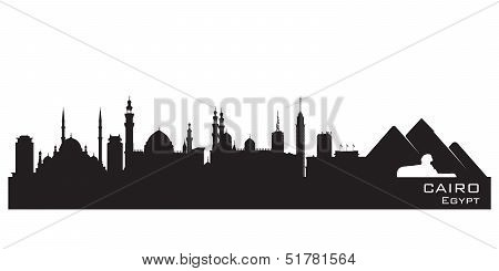 Cairo Egypt Skyline Detailed Vector Silhouette