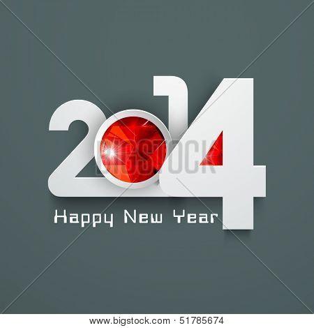 Stylized Happy New Year 2014 celebration background.