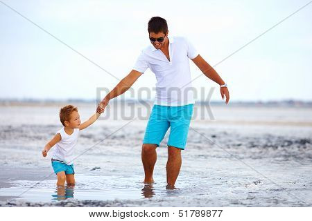 Father And Son Overcome Obstacles Together, Salted Firth