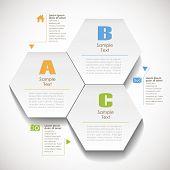vector abstract 3d hexagonal paper infographic elements poster