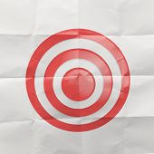 pencil draw rope open wrinkled paper show target symbol and splash color as concept poster