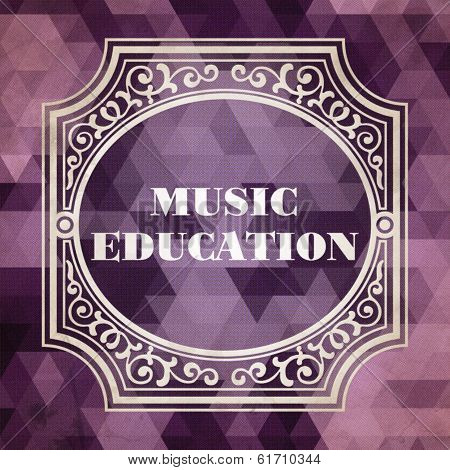 Music Education. Vintage Design Concept.