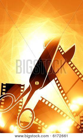 Scissors and film