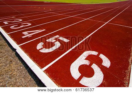 Running track for popular sport, Athlete Track or Running Track