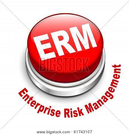 3D Illustration Of Erm Enterprise Risk Management Button