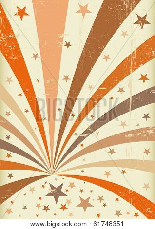 A retro circus background for a poster