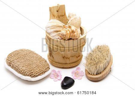 Massage sponge with back brush