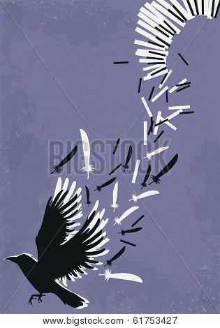 Metaphoric illustration of piano music