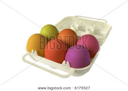 Eggbox Whith Colored Eggs