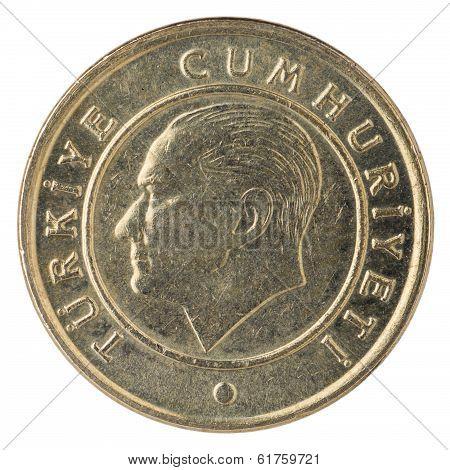 5 Turkish Kurus Coin, 2013, Face