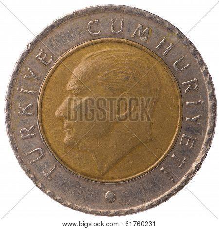 50 Turkish Kurus Coin, 2009, Face