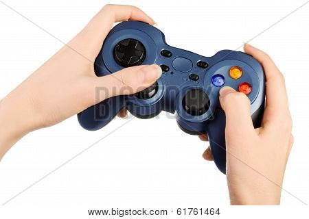 Hands with gamepad