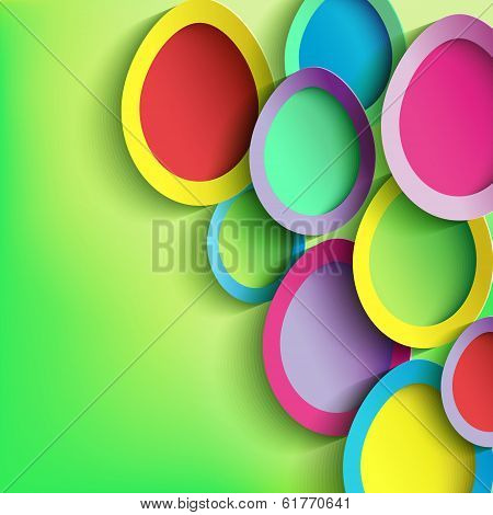 Abstract Background With Colorful Easter Egg