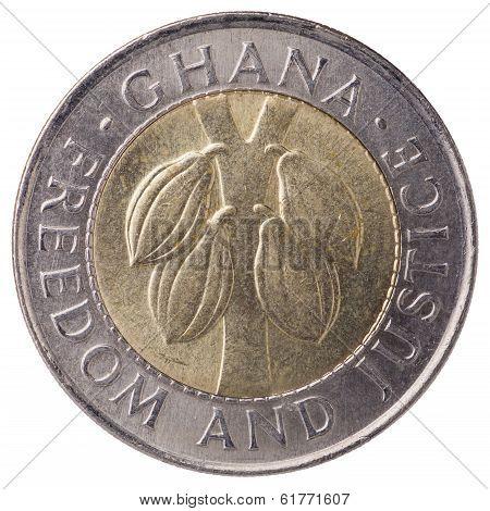 100 Ghana Cedis (second Cedi) Coin, 1999, Face