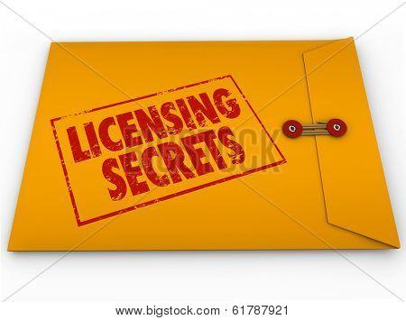 Licensing Secrets Envelope Official Authorization Information