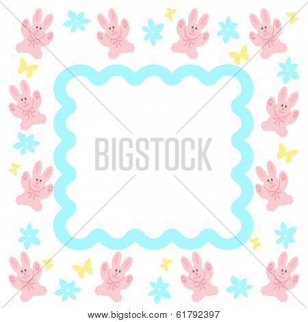 pink bunny frame