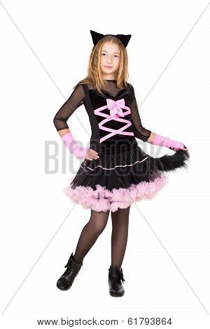 Pretty Girl Posing In Catsuit