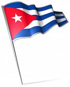 This is an illustration of flag of Cuba poster