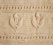 Beautiful yellow wool hand knit patterns . poster