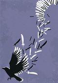 Metaphoric illustration of piano music poster