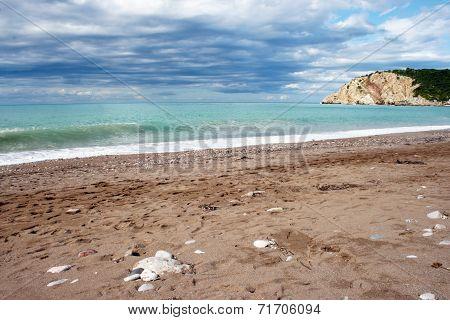 Montenegro beach scene