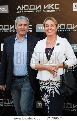 MOSCOW, RUSSIA, May, 13: Arina Sharapova with family. Premiere of the movie