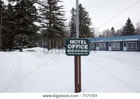 Motel Office Sign