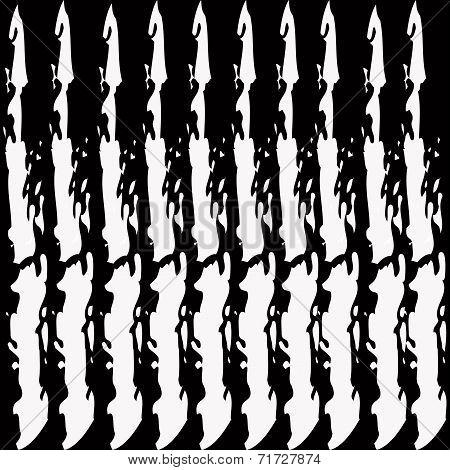Magic White Strip Line  On A Black Background