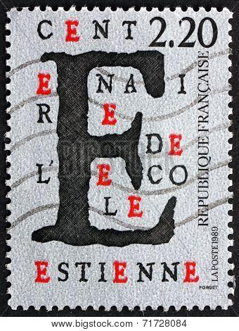 Postage Stamp France 1989 Estienne School, Centenary