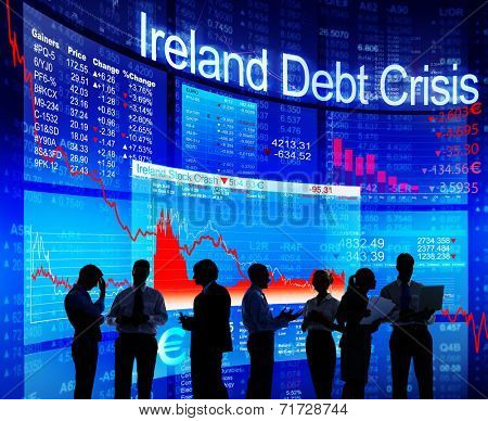 Group of People Discussion about Ireland Debt Crisis