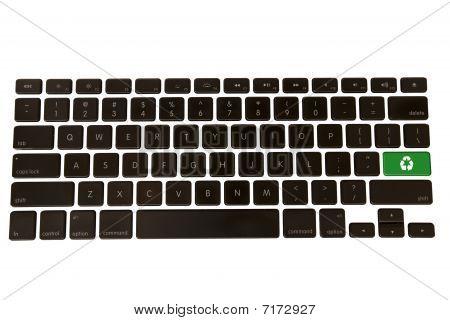 Green Environment Symbol On Keyboard