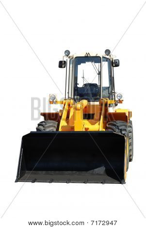 One New Bulldozer On White