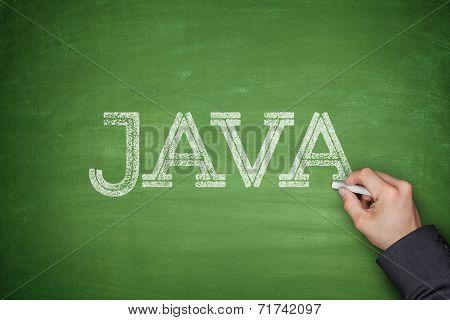 Java concept on blackboard