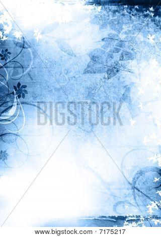 Grunge Background Blue