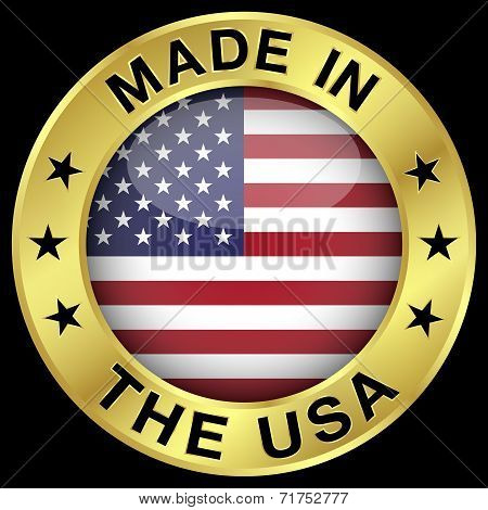 Made In The Usa Gold Badge