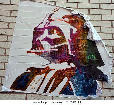 :Street art Montreal Darth Vador