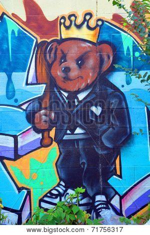 Street art Montreal toon