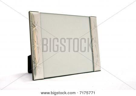 empty frame in silver