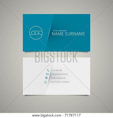Modern simple business card template with place for your company name