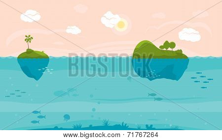 Sea game background