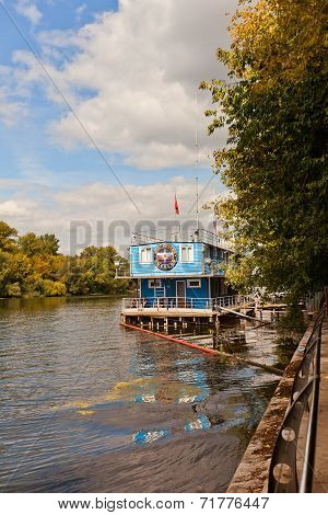 Life-guard Station On Moskva River In Moscow