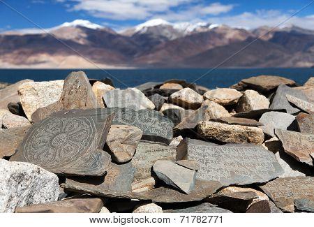 Mani Wall And Tso Moriri Lake