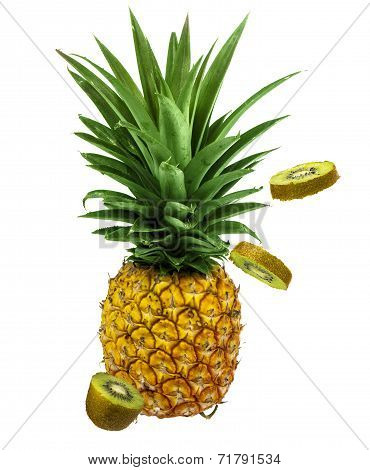 pineapple and kiwi