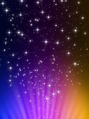 3d rendered illustration of stars on a colorful background poster