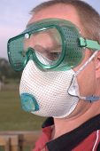 safety goggles glasses respirator dust mask ppe poster