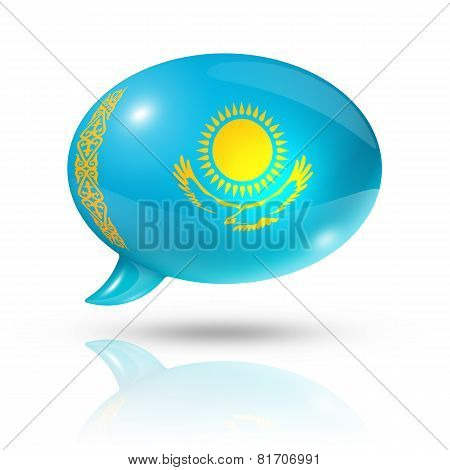 Kazakhstan Flag Speech Bubble
